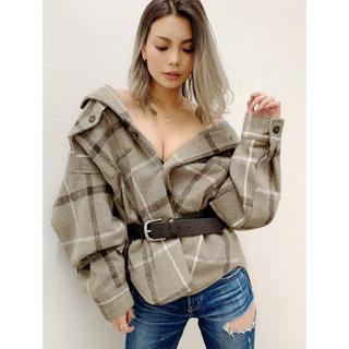 ジェイダ(GYDA)の完売GYDA新品ラインチェックオーバーサイズシャツジャケット(その他)
