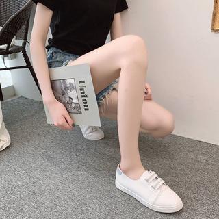 ローカットスニーカー PUレザー レディース シルバー【新品未使用】(スニーカー)