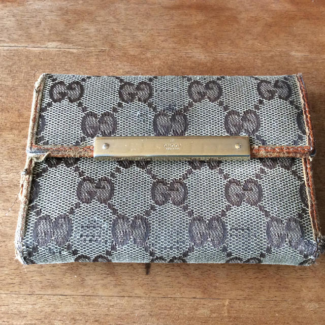 xperia z1 アクセサリー - Gucci - グッチ 三つ折り財布 中古品の通販 by タリン's shop