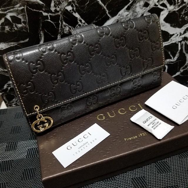vivienne 財布 偽物 見分け方グッチ / Gucci - 【GUCCI】グッチ長財布 ブラウン『箱、付属品付き』の通販 by HIRO's shop