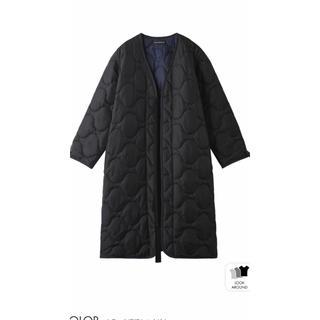 マディソンブルー(MADISONBLUE)のマディソンブルー キルティングコート ブラック美品 エンフォルド hyke (ロングコート)