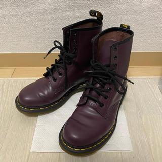 ドクターマーチン(Dr.Martens)の美品 ドクターマーチン 8ボールブーツ パープル 紫(ブーツ)