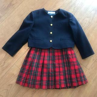 ザスコッチハウス(THE SCOTCH HOUSE)の美品 スコッチハウス フォーマル 女の子スーツ 110A(ドレス/フォーマル)