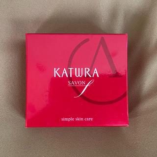 カツウラケショウヒン(KATWRA(カツウラ化粧品))のカツウラ サボン エフ 石けん KATWRA 洗顔石鹸(洗顔料)