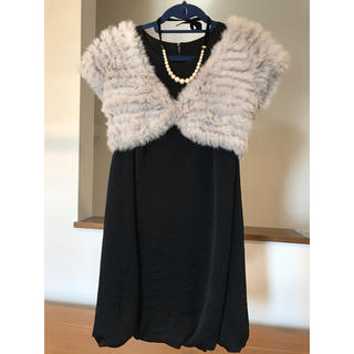 ロートレアモン(LAUTREAMONT)のドレス3点セット ワンピース ファーボレロ ネックレス(ミディアムドレス)