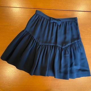 ミュウミュウ(miumiu)の美品♡miu miu/ミュウミュウ♡リボンフリルスカート♡ひらミニスカート(ミニスカート)
