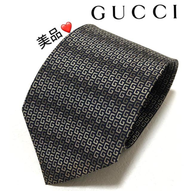 グッチ クロスボディ | Gucci - 一回使用.美品Gucci グッチ 総柄 シルク100% ネクタイの通販 by 青空