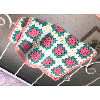 ハンドメイド♡かぎ編み パッチワーク♡マルチカバー