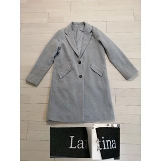 アナップラティーナ(ANAP Latina)のLatina ロングコートチェスターコート グレー体型カバー人気アイテム柔らかい(ロングコート)