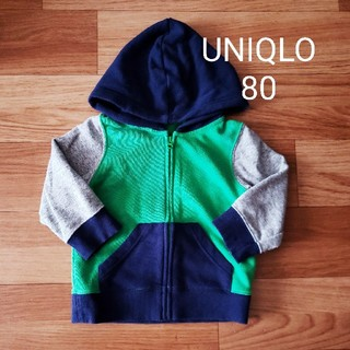 ユニクロ(UNIQLO)のUNIQLO スウェットパーカー 80(トレーナー)