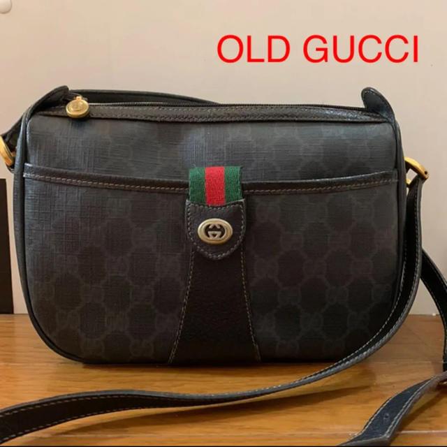 ベルトテンションメータ t-ace / Gucci - OLD GUCCI ショルダー�ッグ gg柄 シェリーライン  ブラック�通販 by jun's shop