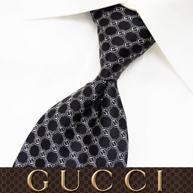 ピンクゴールド ブランドネックレス 、 Gucci - 【54】 GUCCI グッチ 新品本物 ブラック SILK ネクタイの通販 by NEO 's shop