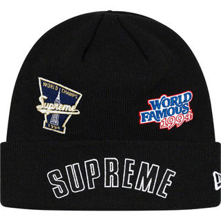 シュプリーム(Supreme)のsupreme New Era® Championship Beanie 黒(ニット帽/ビーニー)