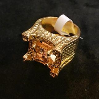 hip hop jewelry天然石トパーズリング ブリンブリンアバランチb系 (リング(指輪))