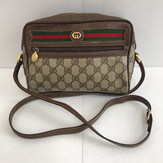 f(x) アクセサリー 、 Gucci - オールドグッチ シェリーライン ショルダーバッグ ブラウンの通販 by たけし's shop