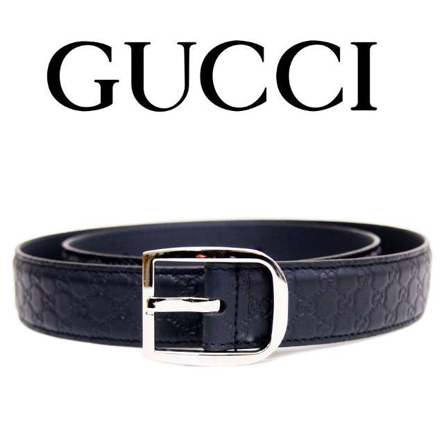 Gucci - 【32】GUCCI マイクログッチシマ ネイビー レザーベルトsize90/36の通販 by NEO 's shop