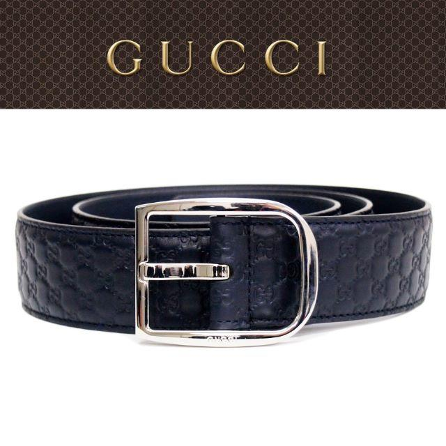 セイコー ブライツ フェニックス - Gucci - 【30】GUCCIネイビーマイクログッチシマGGレザー ベルトsize80/32の通販 by NEO 's shop