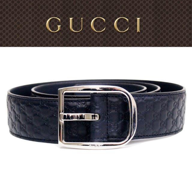 Gucci - 【30】GUCCIネイビーマイクログッチシマGGレザー ベルトsize80/32の通販 by NEO 's shop
