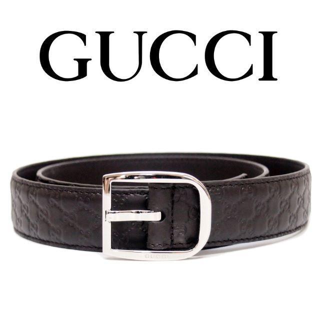 スーパーコピー グッチ 財布 q-pot - Gucci - 【33】GUCCIマイクログッチシマ ブラウン レザー ベルトsize80/32の通販 by NEO 's shop