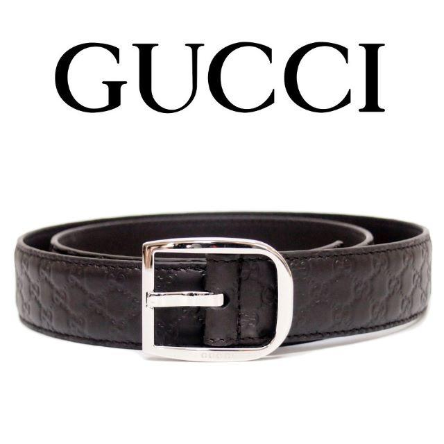 z ベルトー�カ - Gucci - �33】GUCCIマイクログッ�シマ ブラウン レザー ベルトsize85/34�通販 by NEO 's shop