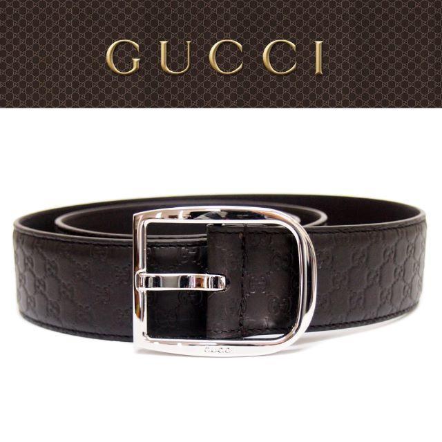 z ベルト / Gucci - 【34】GUCCIブラウンマイクログッチシマGGレザーベルトsize95/38の通販 by NEO 's shop