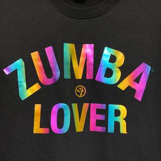 ズンバ(Zumba)のzumba 黒 メタリック レインボー Tシャツ ズンバウェア (Tシャツ/カットソー(半袖/袖なし))