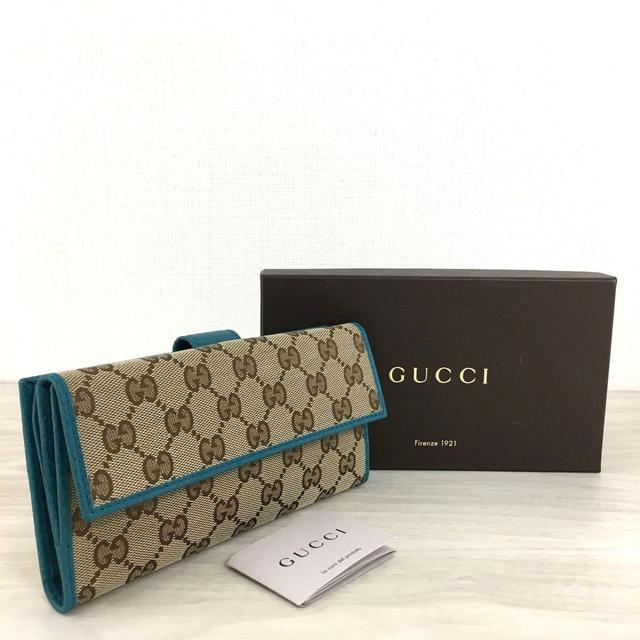 e c p ベルト / Gucci - 未使用� グッ� Wホック長財布 GGキャン�ス キャン�ス 96�通販 by �ー's shop