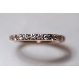 ダイヤモンド シライシ ハーフエタニティ 0.451ct リング K18 PG (リング(指輪))