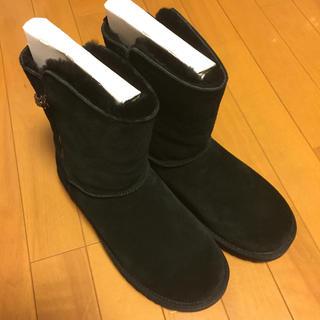アグ(UGG)の未使用 ugg アグ ムートンブーツ 25 USA8 ブラック(ブーツ)