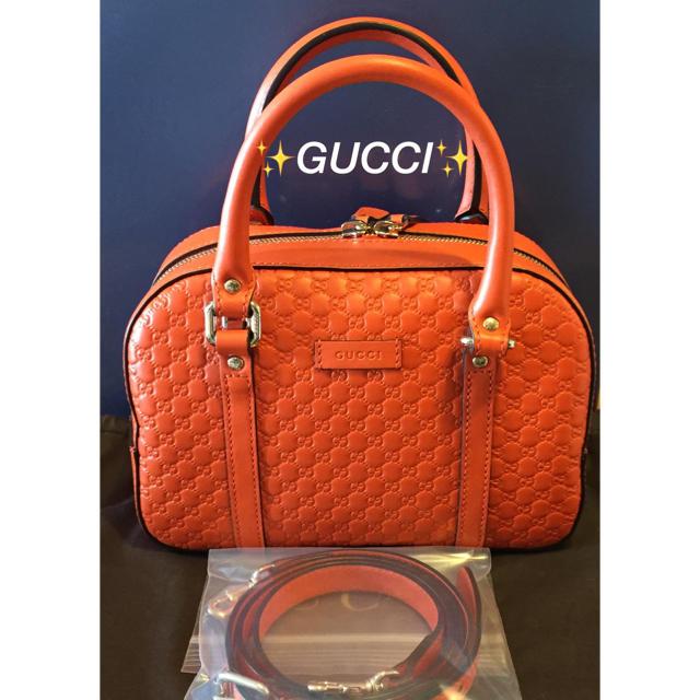 c9 mベルト - Gucci - ✨極美�✨GUCCI オレンジ ショルダー�ッグ ボルサ�マイクログッ� シマ】�通販 by mima's  shop
