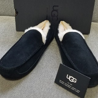 UGG - 新品未使用 UGG アスコット !メンズ モカシン ブラック