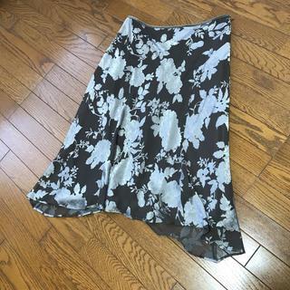 ニジュウサンク(23区)の23区 花柄 シフォンスカート  大きめサイズ!(ひざ丈スカート)