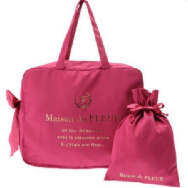 Maison de FLEUR(メゾンドフルール)のレアカラー♡メゾンドフルール♡トラベルキャリーオンバッグ&巾着 インテリア/住まい/日用品の日用品/生活雑貨/旅行(旅行用品)の商品写真