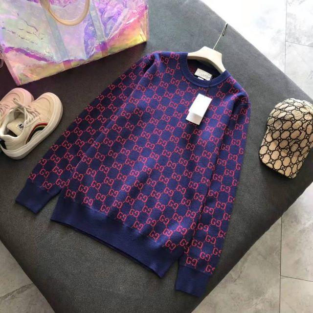 p コート ベルト | Gucci - GUCCI ウール カシミア ロゴ セーターの通販 by てらだとしみ's shop