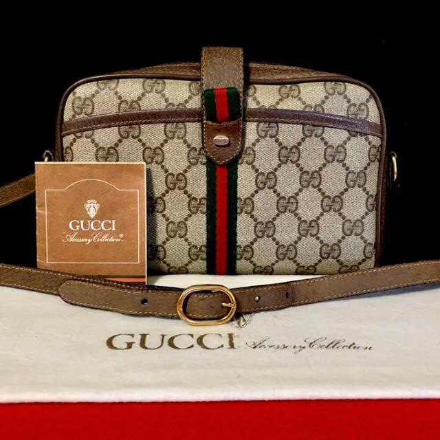 アクセサリー バイト / Gucci - 極上 美品 グッチ オールドグッチ シェリーライン ショルダーバッグ ポシェットの通販 by マチルダ's shop