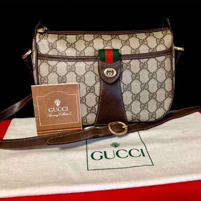 c r アクセサリー / Gucci - 極上 美品 グッチ オールドグッチ シェリーライン ショルダーバッグ ポシェットの通販 by マチルダ's shop