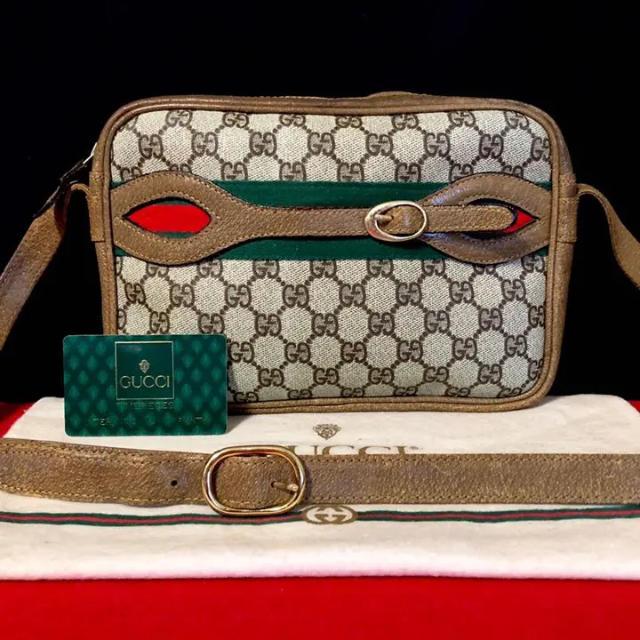 chanel ショルダーバッグ スーパーコピー時計 、 Gucci - 激レア 70s 美品 グッチ オールドグッチ シェリーライン ショルダーバッグの通販 by マチルダ's shop