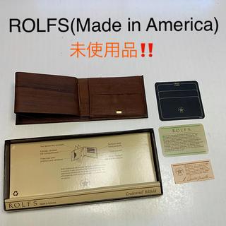 アメリカンレトロ(AMERICAN RETRO)の☆☆ROLFS  (made in America )焦げ茶 二つ折り財布☆☆(折り財布)