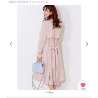 MISCH MASCH - バックプリーツトレンチコート
