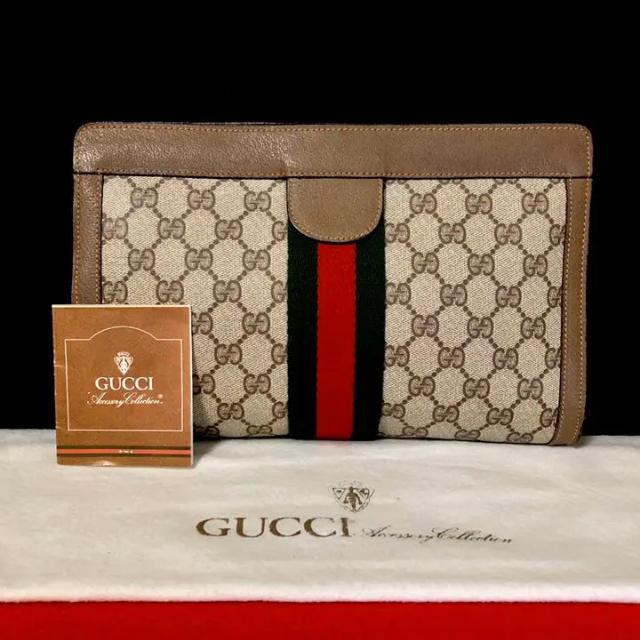 m'sアクセサリー - Gucci - 極 美� グッ� オールドグッ� シェリーライン �ンド�ッグ クラッ��ッグ�通販 by マ�ルダ's shop