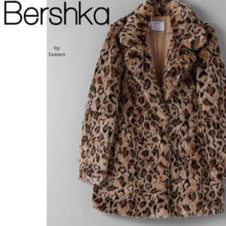 ベルシュカ(Bershka)のbershka レオパード ファーコート(毛皮/ファーコート)