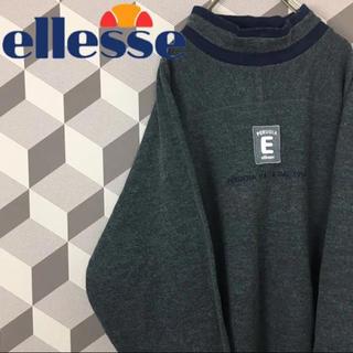 エレッセ(ellesse)の【ellesse】ウール混 モックネック 刺繍ロゴ スウェット ビッグシルエット(スウェット)
