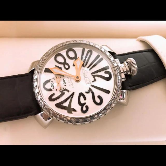 ルイヴィトン キャリーバッグ スーパーコピー時計 、 GaGa MILANO - ガガミラノ マヌアーレ 5010.1D 46mm 純正ダイヤモンドの通販 by しょたくん's shop