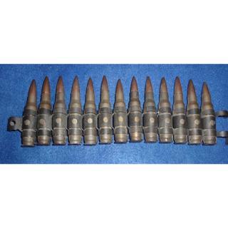 詳細不明のベルトリンク付の機関銃弾13発(その他)