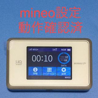 エヌイーシー(NEC)のmineo設定済 Speed Wi-Fi NEXT WX03 新品ケースつき(その他)
