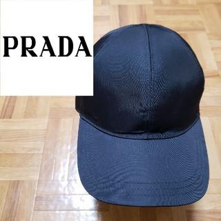 PRADA - プラダ キャップ ナイロン ネオンカラー 6パネル ラバー ブラック モード