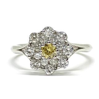 超希少 ⭐︎天然カラーダイヤモンド プラチナ900 リング⭐︎(リング(指輪))