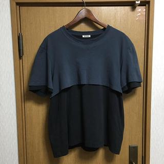 アクネ(ACNE)のACNE アクネ ドッキングカットソー カットソー (Tシャツ(半袖/袖なし))