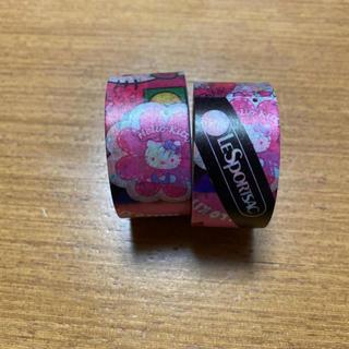 ハローキティ(ハローキティ)のハローキティ♡マスキングテープ♡レスポートサック♡非売品(テープ/マスキングテープ)