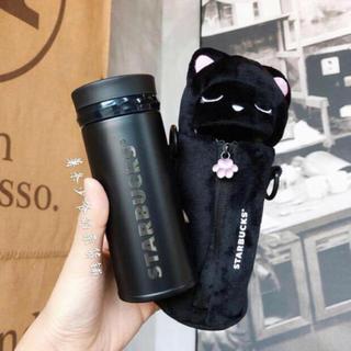 スターバックスコーヒー(Starbucks Coffee)のボトルホルダー付!サーモス!猫 ハロウィン台湾スターバックスステンレスタンブラー(グラス/カップ)